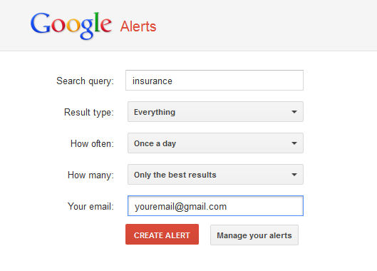 use google alerts for content