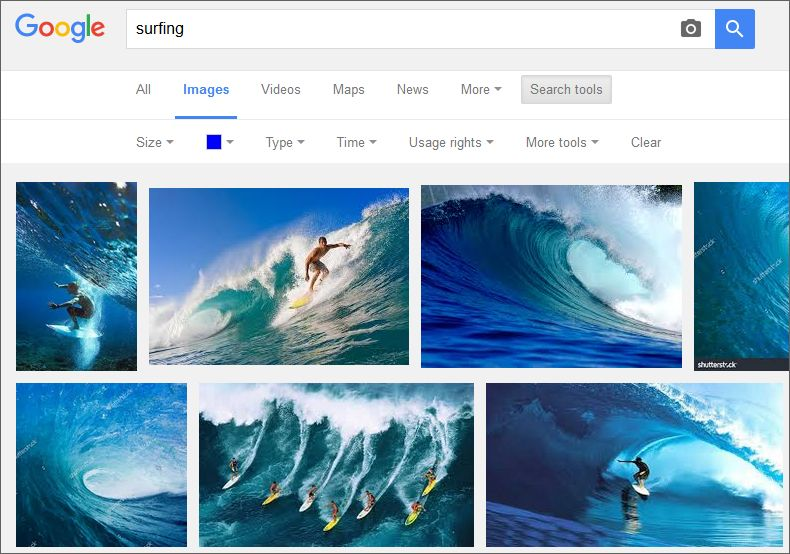 blue surfing images