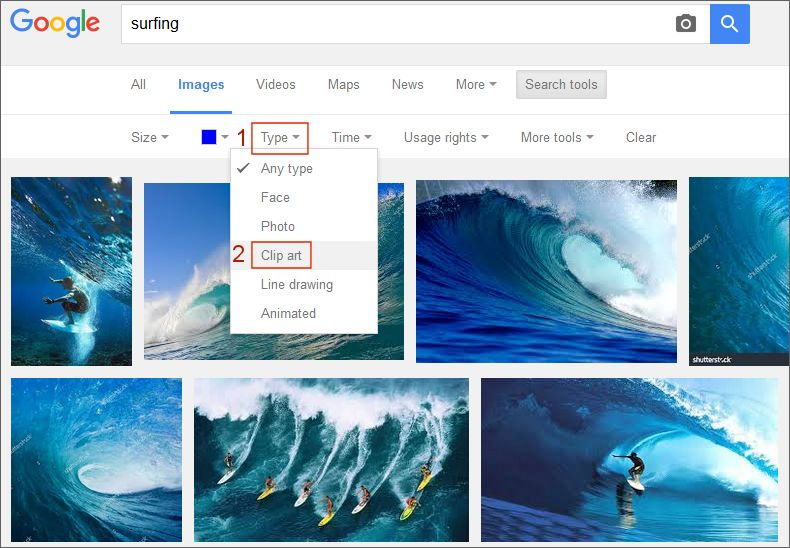 google images type search