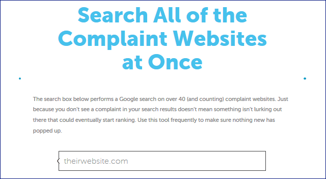 complaints search engine