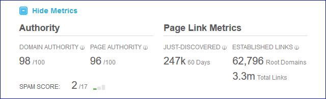 domain authority citation flow