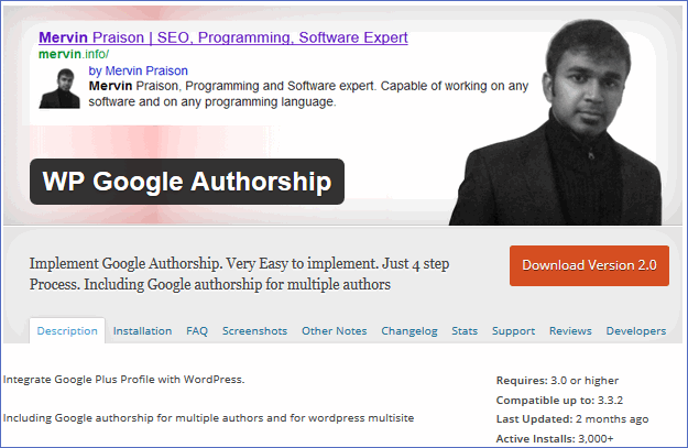 google authorship plugin