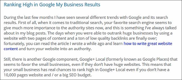 interlinking blog articles
