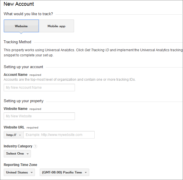 analytics website setup