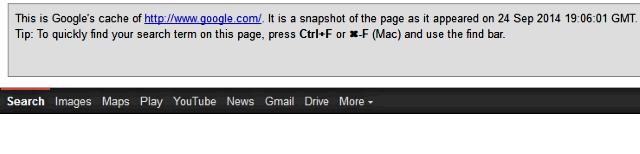 google cache operator