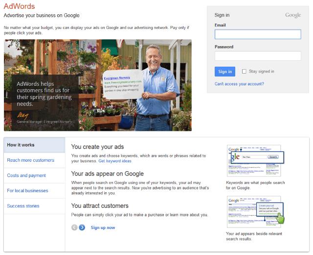 google adwords account setup