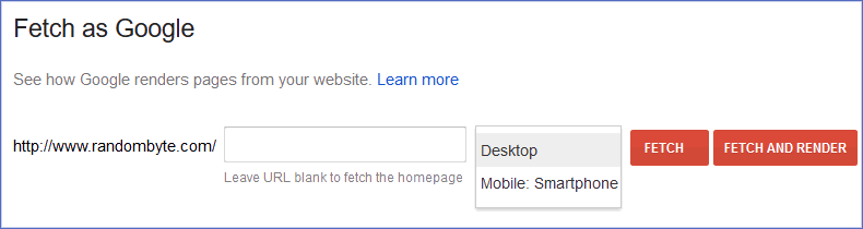 search console fetch as google