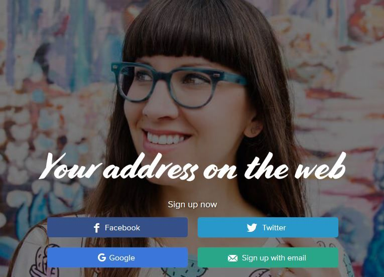 about me sign up