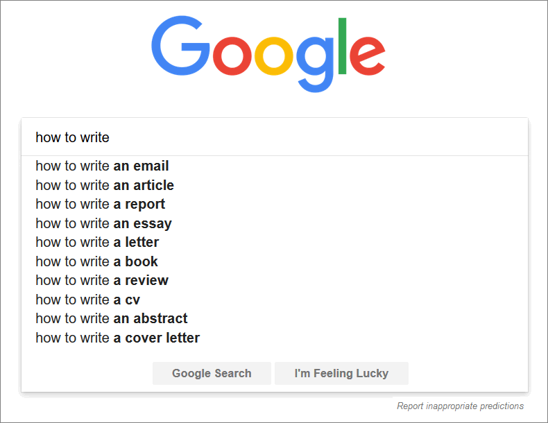 search queries subheadings