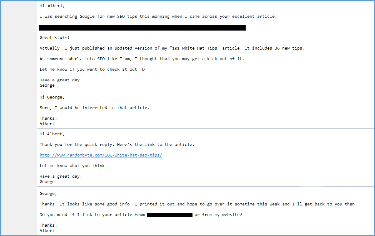 email outreach sequence