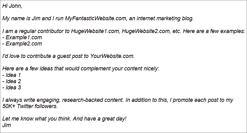 guest post outreach example